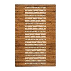 """Anji Mountain Bamboo Kitchen & Bath Mat Walnut, 24""""x36"""""""