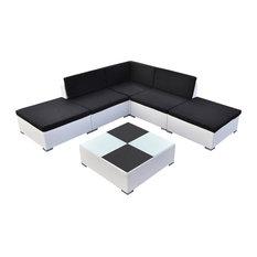 VidaXL 15-Piece Garden Furniture Set Poly Rattan, White