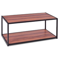 Durable Rectangular Coffee Table With Bottom Shelf