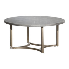 Michael Amini Aico Freestanding Alta Round Tail Table With Gray Top Fs Alta201