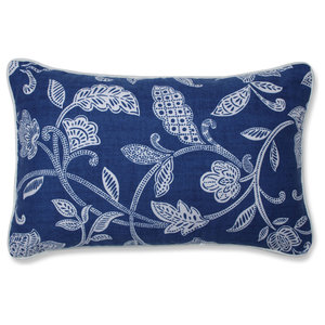 Stencil Vine Ocean Rectangular Throw Pillow