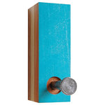 Six Finger Studios - Single Coat Hook, Reclaimed Wood, Wall Hanging, Turquoise - Single Coat Hook Recycled Wood (Made to Order)