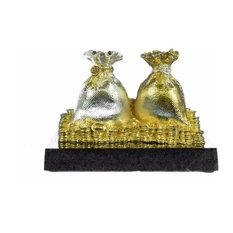 Bronze Sculpture 24K Gold Plated Symbol Of Wealth Fortune Good Luck Figurine