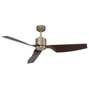 Lucci Airfusion Climate II DC Ceiling Fan With Remote, Antique Brass