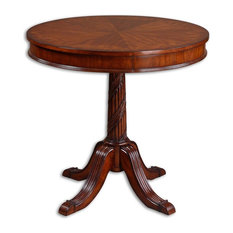 Uttermost   Uttermost Brakefield Pecan Round Table   Side Tables And End  Tables