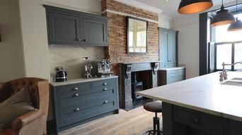 Open Plan kitchen Contemporary Kitchen in Kemptown Brighton.