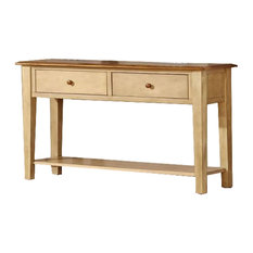 16-inch X 50-inch X 30-inch Two Tone Hardwood Sofa Table