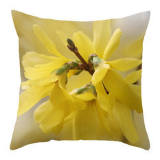 Yellow Beauty Spring Pillow Cover, 20x20