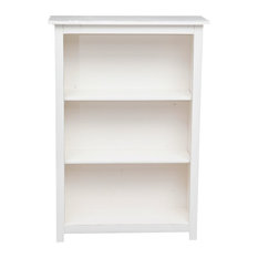 Country 2-Shelf Bookcase, White