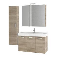 """37"""" Larch Canapa Bathroom Vanity Set"""