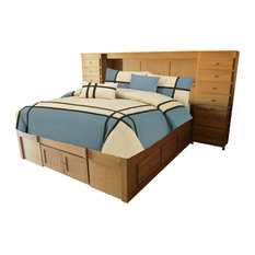 Urban Supersized Headboard With Raised Panel Back and Piers