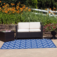 empirepatio winchester outdoor patio rug royal blue 8 l x 10 w - Outdoor Patio Rugs