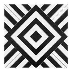 Retro 12x12 Self Adhesive Vinyl Floor Tile, Geometric, 20 Tiles/20 sq. ft.
