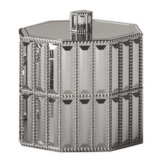 nu steel Glitz Cotton Swab Container, Chrome
