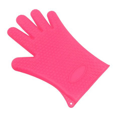 Heat Resistant Silicone Gloves- 1 Pair, Pink