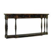 Hooker Furniture Sanctuary 4-Drawer Thin Console, Ebony