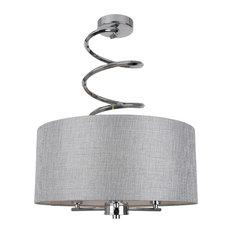 Kasi Semi Flush Ceiling Light, Polished Chrome