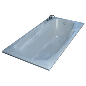 Venzi Aesis 42 x 72 Rectangular Whirlpool Jetted Bathtub By Atlantis