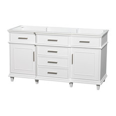 "Berkeley 60"" Single Vanity No Countertop, No Sink, White, No Mirror"