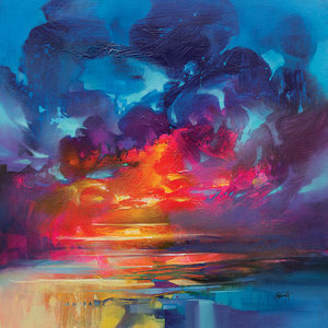 """Liquid Light"" Canvas Print by Scott Naismith, 85x85 cm"