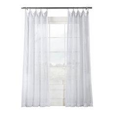 "Signature White Sheer Curtain Single Panel, 50""x120"""
