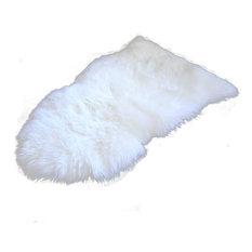 Sheepskin Rug New Zealand, 2'x3', White