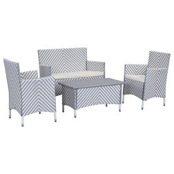 Nice Tropical Outdoor Lounge Sets by Safavieh