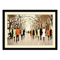 """Framed Art Print 'Poet's Walk' by Lorraine Christie, Outer Size 43""""x31"""""""