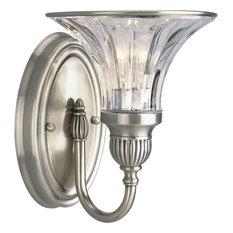 Progress Roxbury 1-Light Bathroom Lighting Fixture, Classic Silver