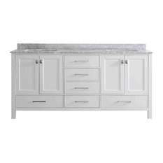 Eviva Aberdeen 72 White Bathroom Vanity With Top