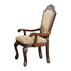 Acme Chateau De Ville Arm Chairs, Espresso, Set of 2