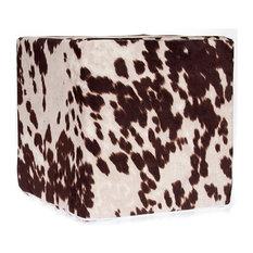 Cow Cube, Brown Faux