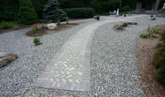 Paver areas with compass