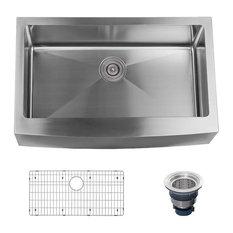 "Miseno MSS3320F Farmhouse 33"" Single Basin Stainless Steel Kitchen Sink"