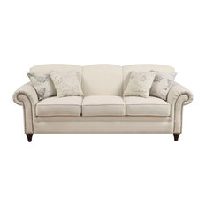 Scalloped Back Nailhead Trim  Sofa