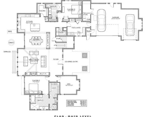 Luxury mountain craftsman house plan 9069 for Luxury mountain home floor plans