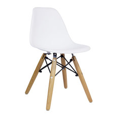 Design Tree Home   Midcentury Modern DSW Kiddie Chair, White   Kids Chairs