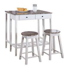 pilaster designs 3piece kitchen island set drop down table and 2 stools