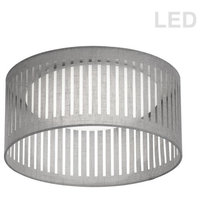 "Dainolite Slit Drum 1 Light 15"" LED Flush Mount Ceiling Light, SDLED-15FH-GRY"