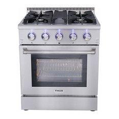 30 Inch Thor Kitchen Freestanding 4 Burner Professional Gas Range