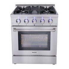 30 Inch Thor Kitchen Freestanding 4 Burner Professional Gas Range