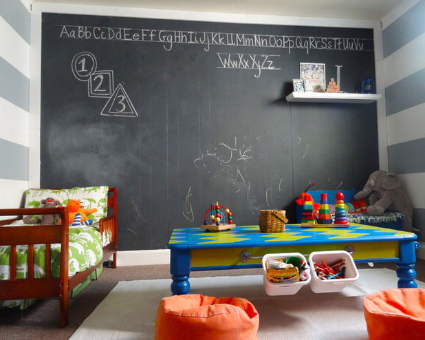 How to make chalkboard paint houzz for Chalkboard paint decorating ideas