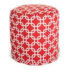 Outdoor Red Links Small Pouf