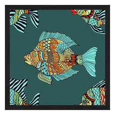 """""""Barrier Reef"""" Framed Art Print, 45x45 cm"""
