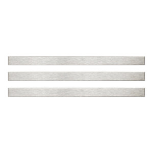 """0.38""""x0.38"""" Alloy Stick Stainless Steel-Over-Porcelain Trim, Set of 3, Silver"""