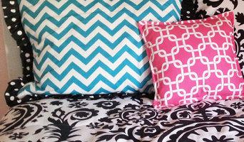 Custom Chevron & Suzani Print Bedding