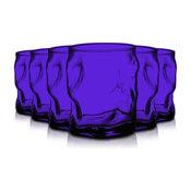Bormioli Rocco Sorgente Double Glasses, Set of 6, Purple