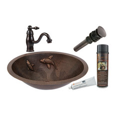 Premier Copper Products Bathroom Sink, Faucet and Accessories Package