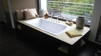 Badezimmer in Betonoptik