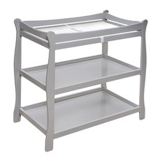 Badger Basket Co Sleigh Style Changing Table, Gray